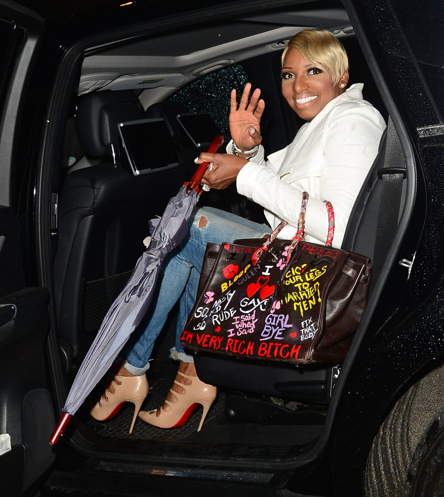 Nene Leakes Hermes Birkin with Graffiti-4