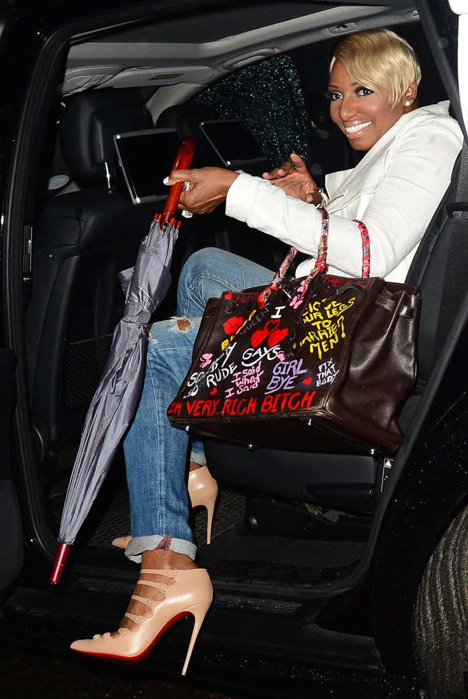 Nene Leakes Hermes Birkin with Graffiti-5