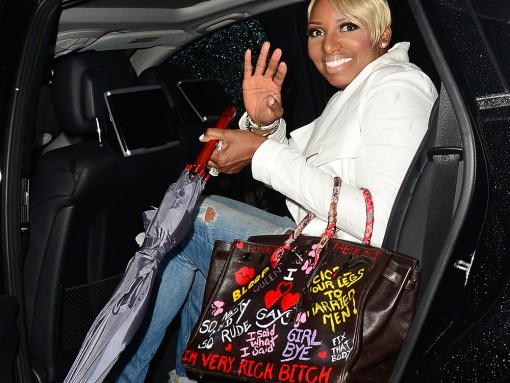 Nene Leakes Hermes Birkin with Graffiti