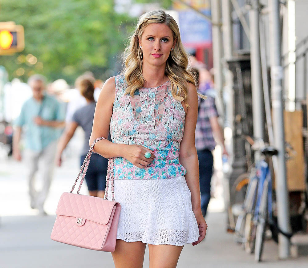 fd792edad5c5 Nicky Hilton Knows You re Looking at Her Chanel Bag - PurseBlog