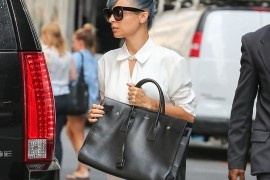 Nicole Richie Does the Press Rounds with an Enormous Saint Laurent Bag