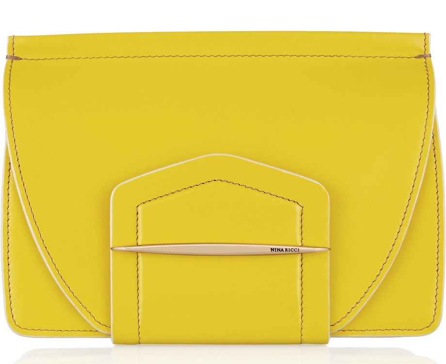 Nina Ricci Leather and Suede Clutch