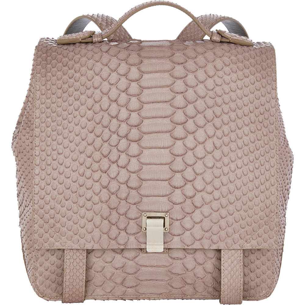 Proenza Schouler Python PS Small Courier Backpack