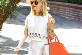 Reese Witherspoon Leaves the Office with a Maiyet Bag