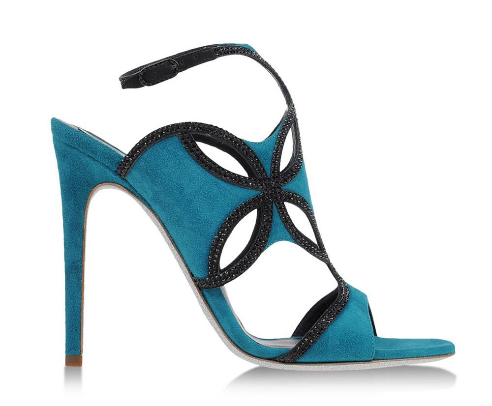 Rene Caovilla Suede Sandals