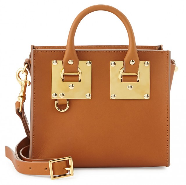 Sophie Hulme Buckled Leather Box Tote Bag