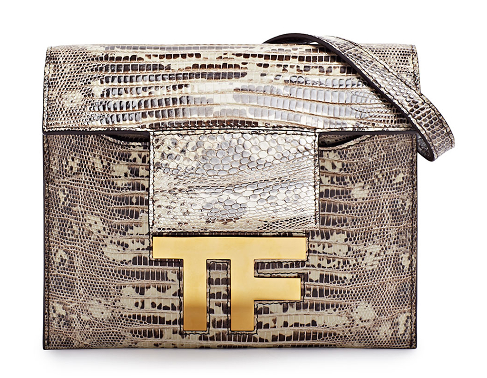 Tom Ford Hidden TF Lizard Shoulder Bag