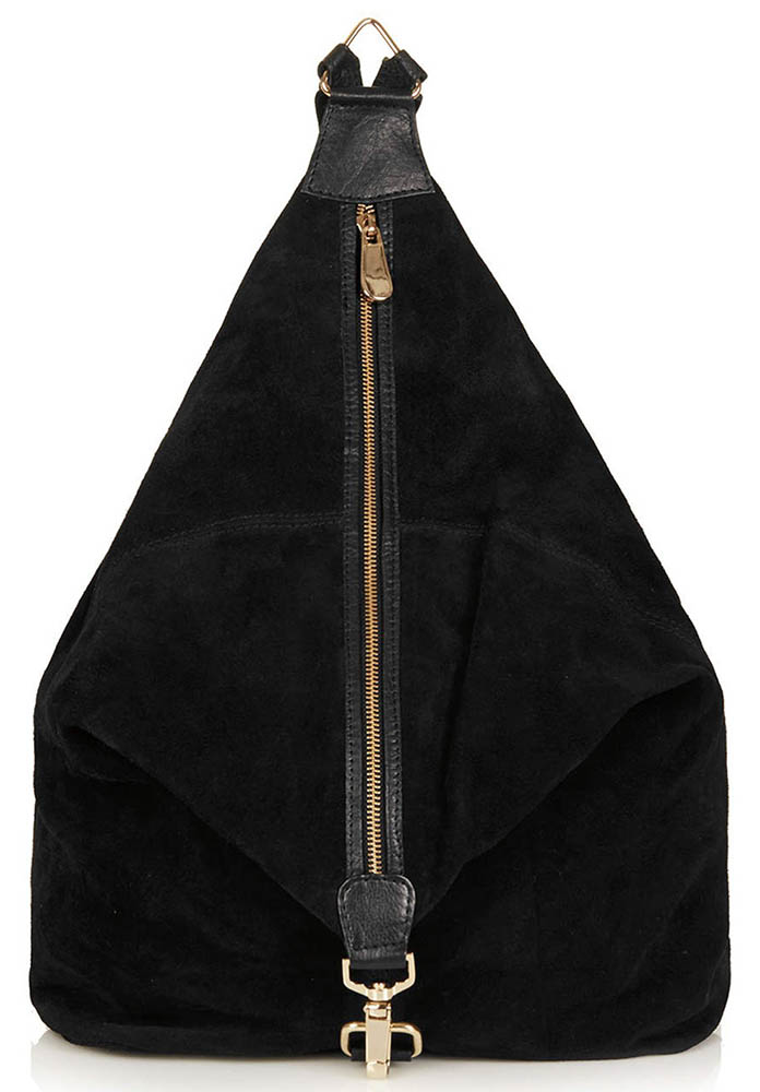 Topshop Clipped Suede Backpack