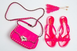 Perfect Pairs: Valentino Pink Rockstud Bag + Shoes