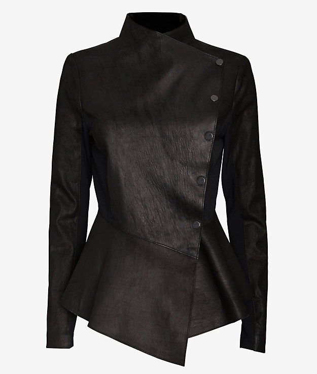 Veronica Beard Peplum Moto Jacket