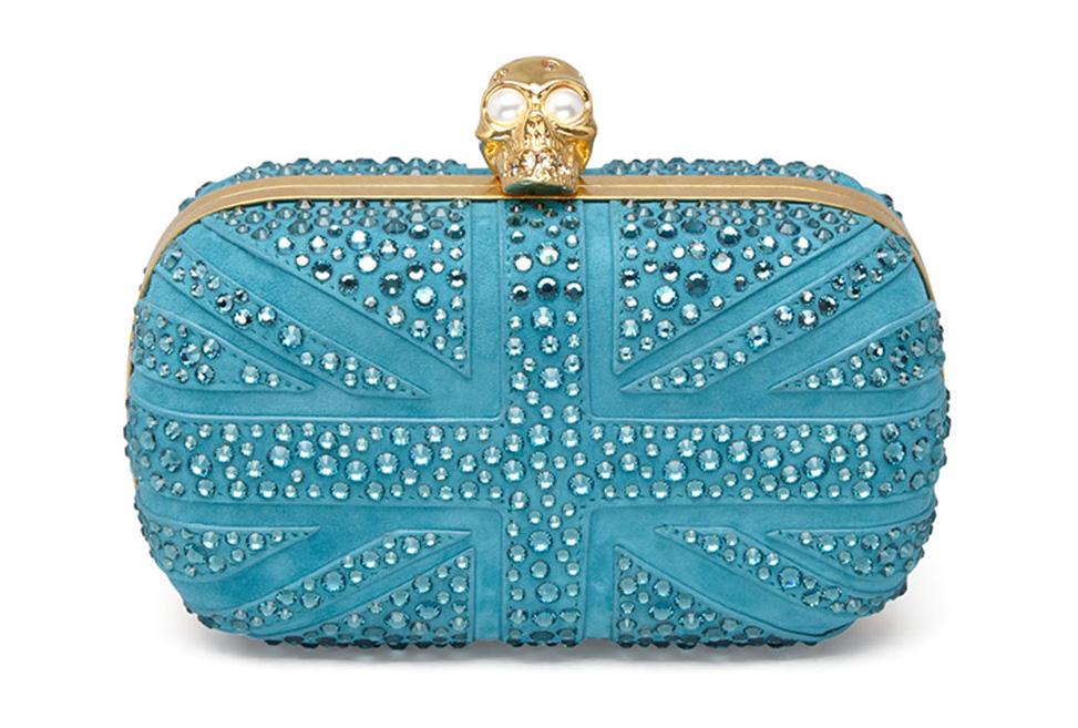 Alexander McQueen Britannia Crystal Skull Clutch