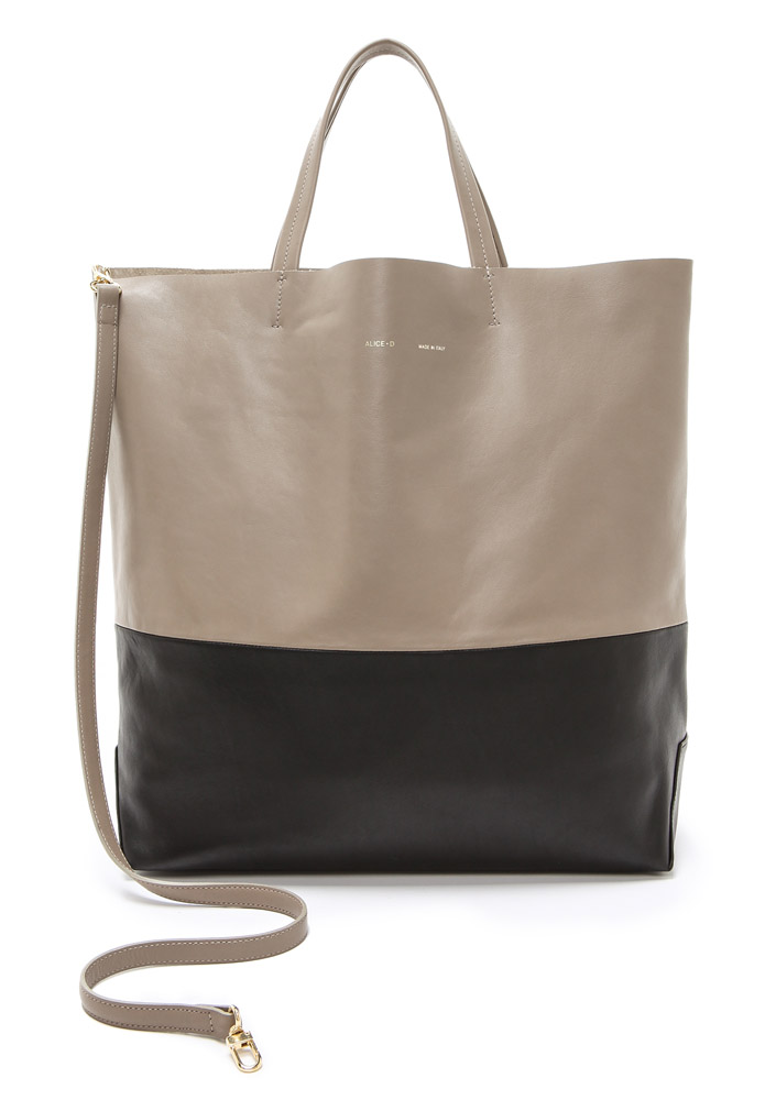 Alice D Leather Tote Bag