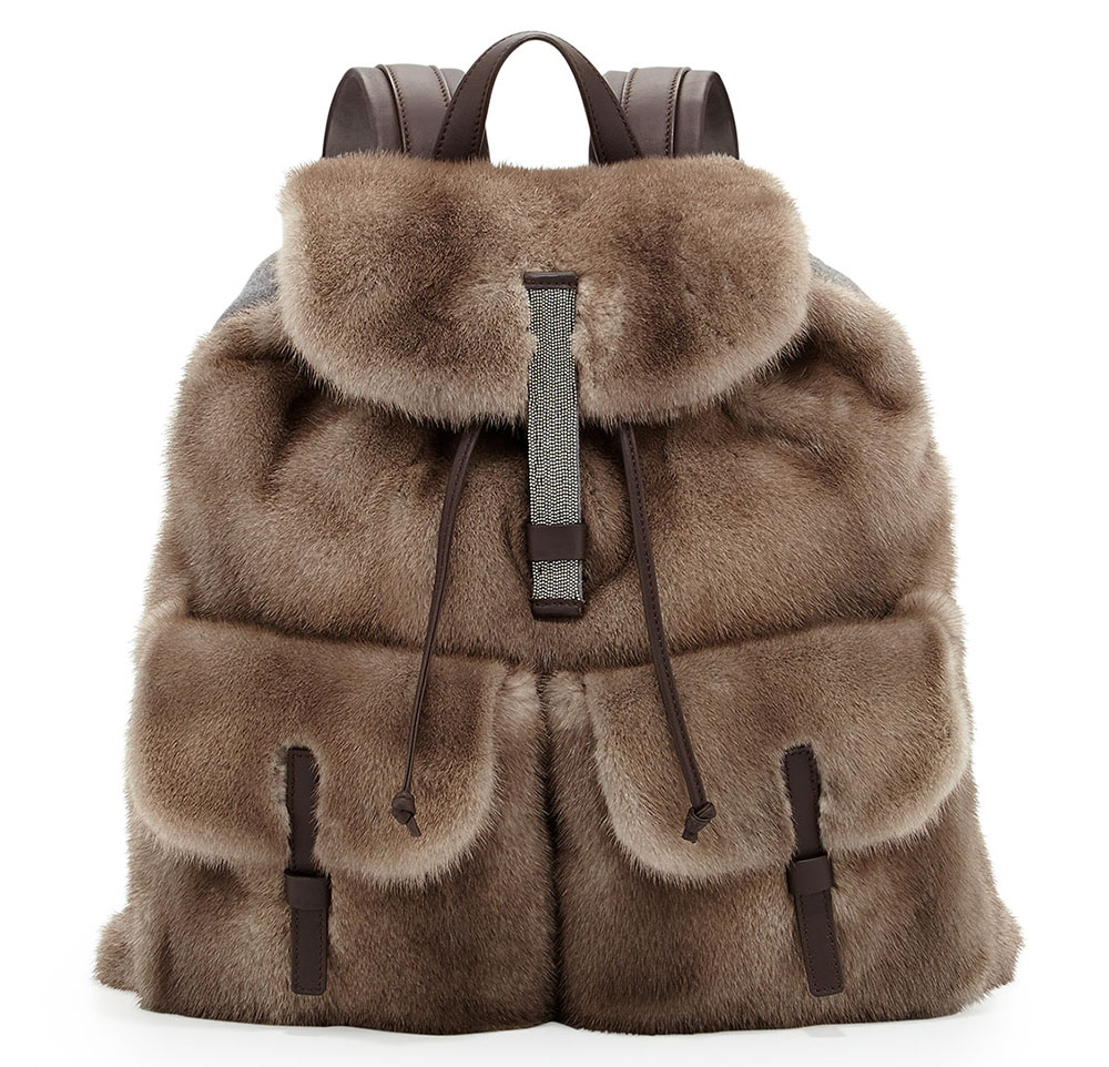 Brunello Cucinelli Mink Fur Backpack