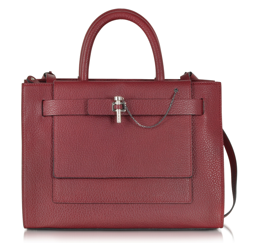 Carven Grained Leather Handbag