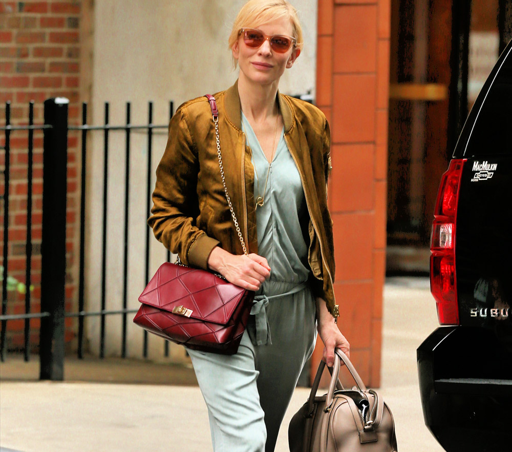 9ce2f5aa8aed Cate Blanchett Doubles Up with Roger Vivier and Givenchy Bags ...