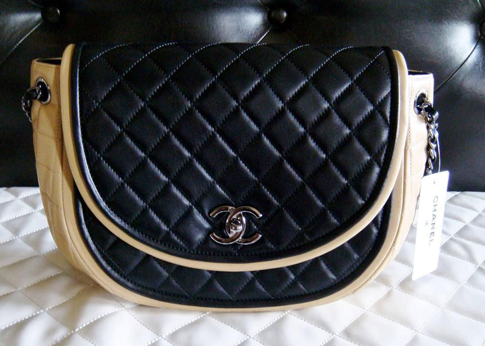 Chanel Quilted Half Moon Bag