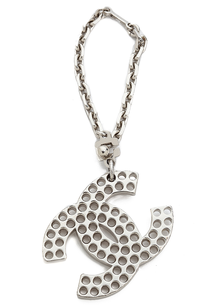 Chanel Vintage Perforated Logo Bag Charm