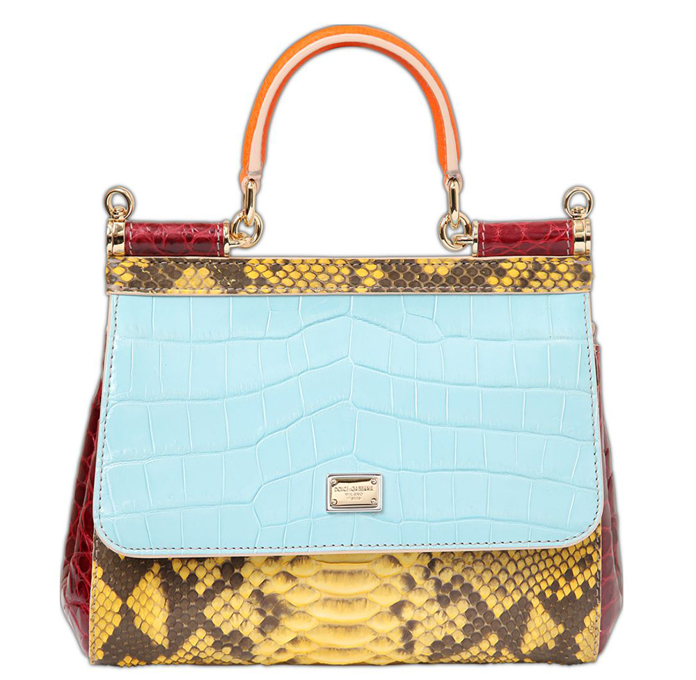 Dolce Gabbana Small Sicily Patchwork Exotic Bag 2 995 Via Luisaviaroma