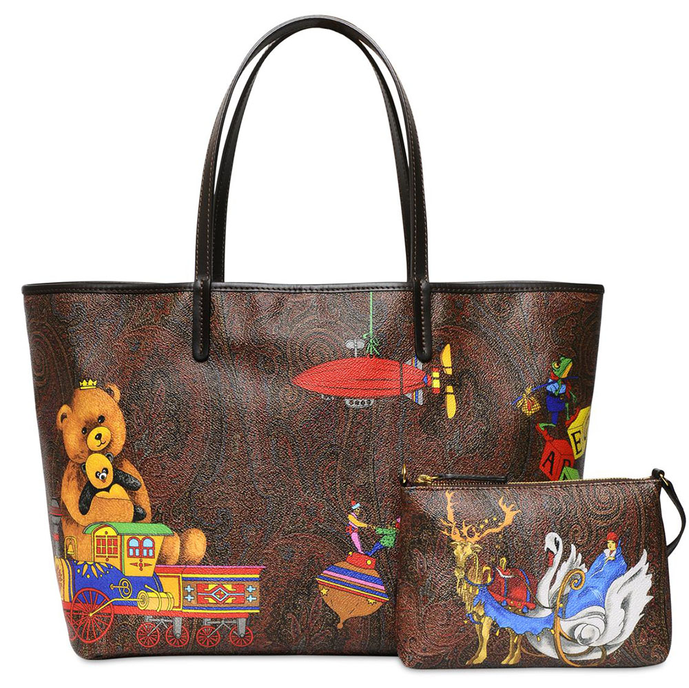 Etro Paisley Play Coated Canvas Tote