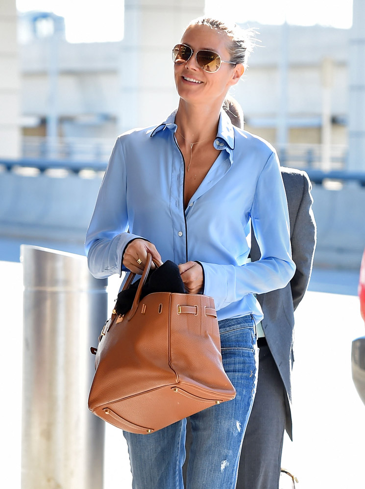 fake hermes bag - Heidi Klum and Her Birkin Write the Book on Chic Air Travel ...