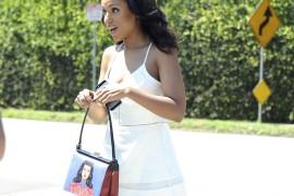 Kerry Washington Carries the Infamous Prada Face Bag