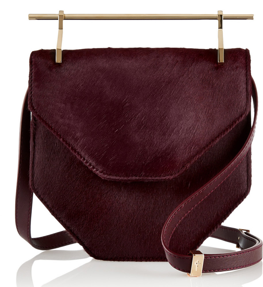 M2Malletier Amor Fati Calf Hair Shoulder Bag