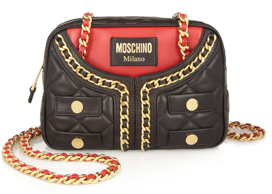 Moschino Jacket Quilted Shoulder Bag