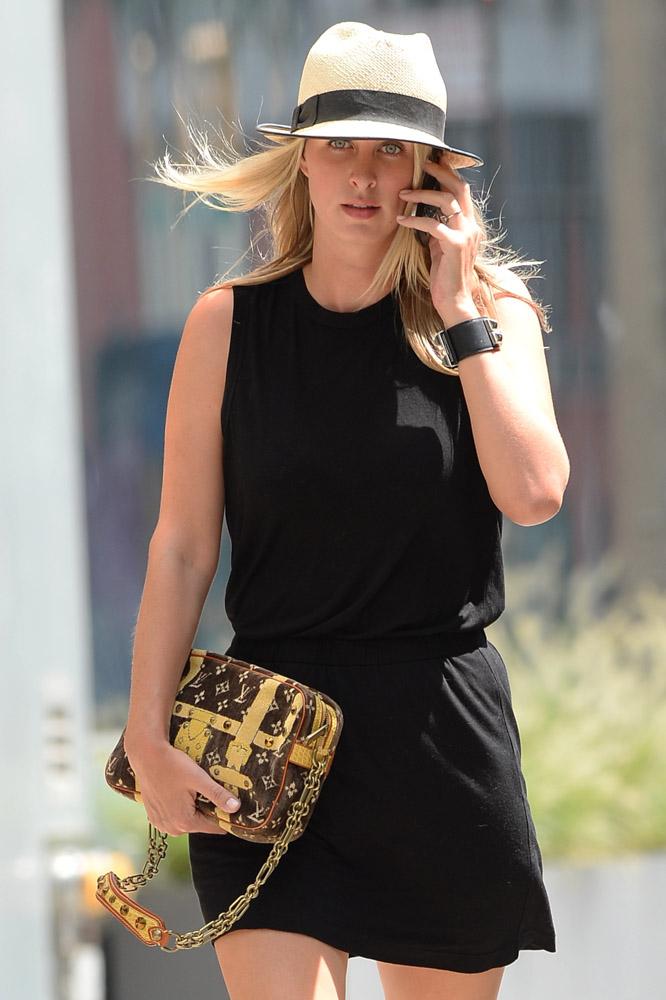 Nicky Hilton Louis Vuitton Trompe L'oeil Trocadero Bag-3