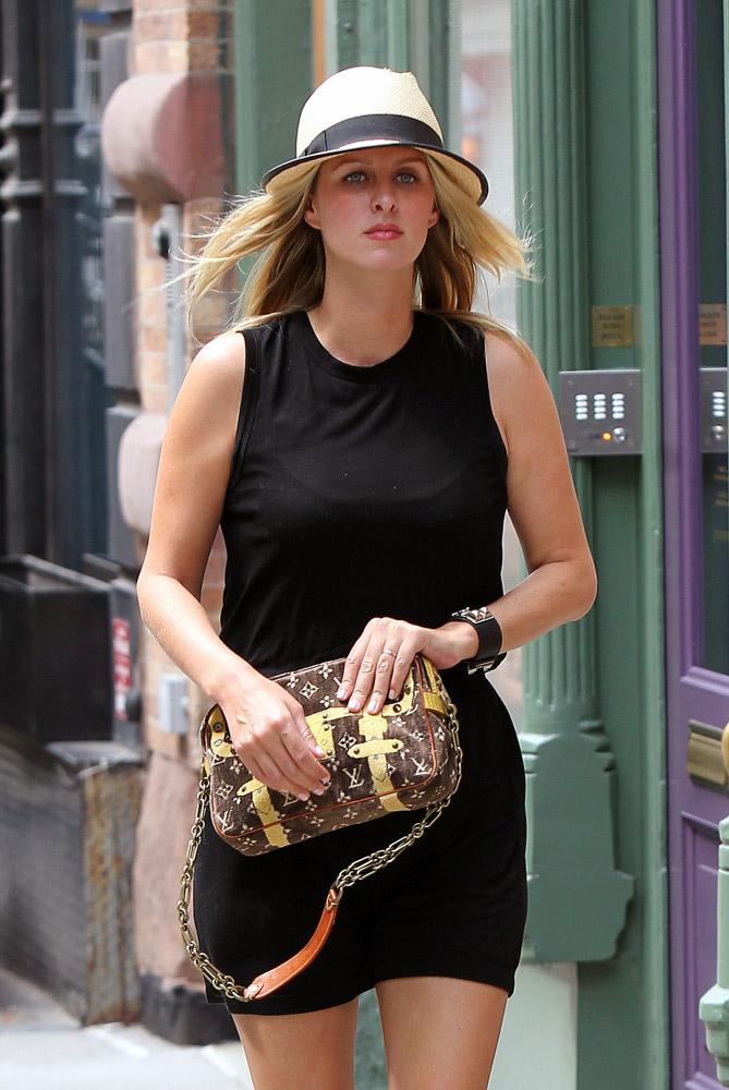 Nicky Hilton Louis Vuitton Trompe L'oeil Trocadero Bag-4