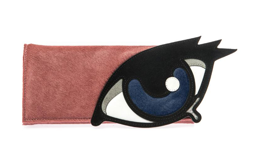 Pierre Hardy Calf Hair and Suede Eye Clutch