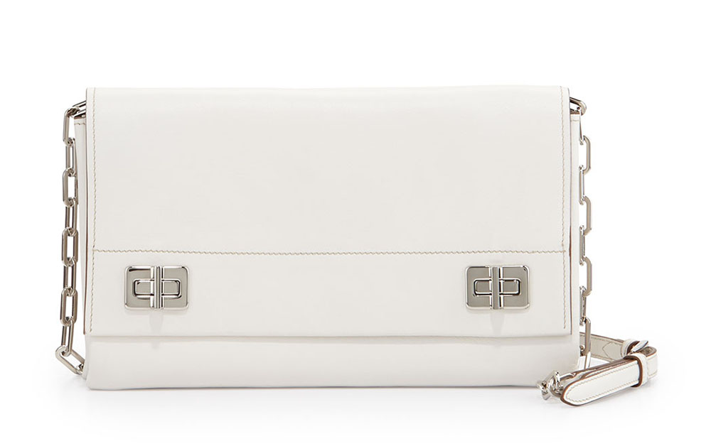 Prada Medium Lux Flap Crossbody White