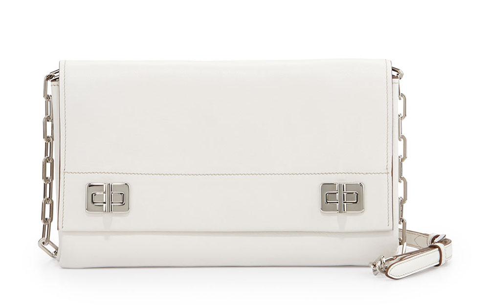 Prada Medium Lux Flap Crossbody White