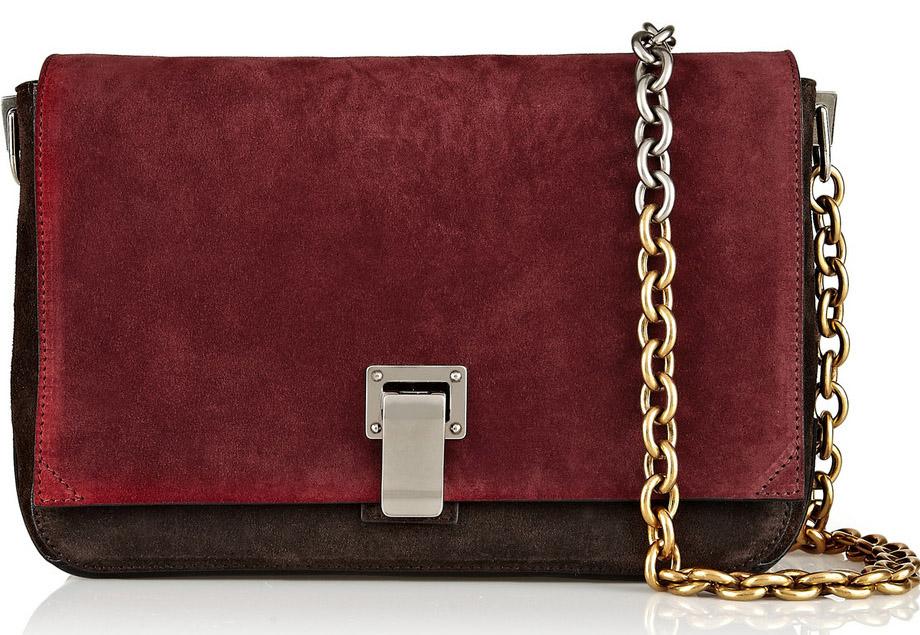Proenza Schouler PS Courier Small Suede Bag