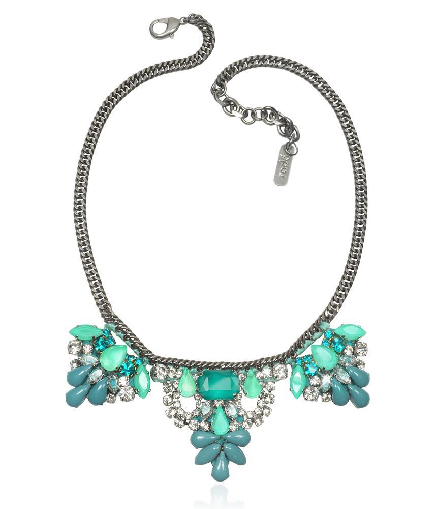 Rada Aqua Crystals Necklace