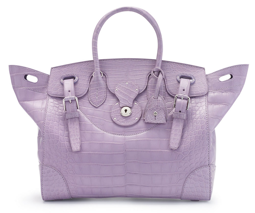 Ralph Lauren Soft Ricky Alligator Purple