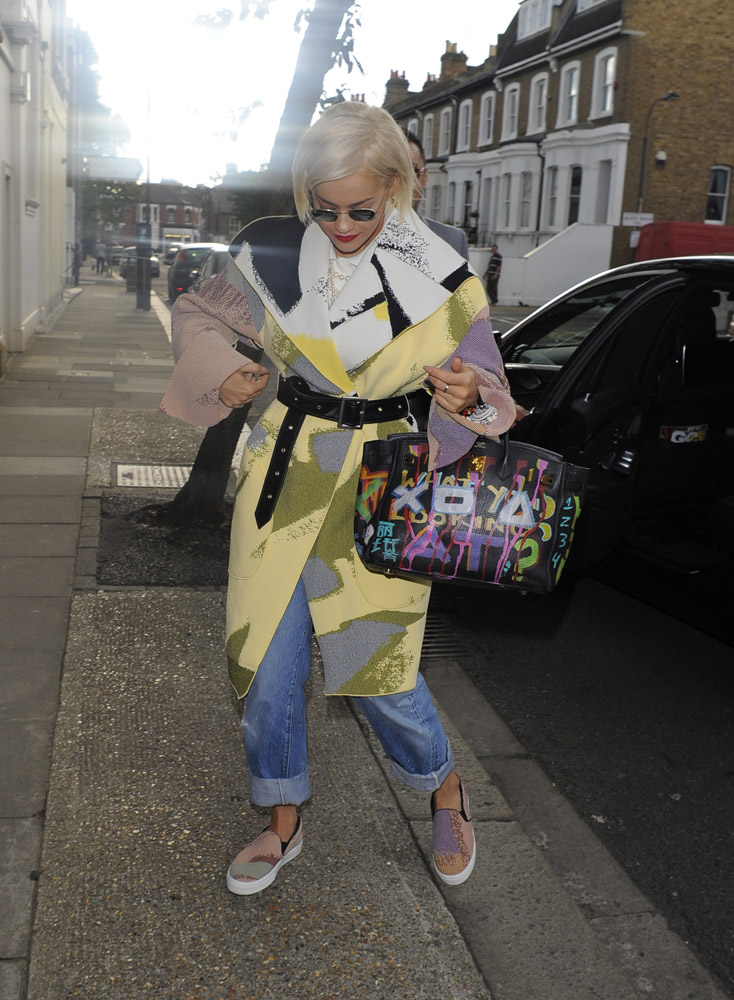 Rita Ora Graffiti Hermes Birkin 2