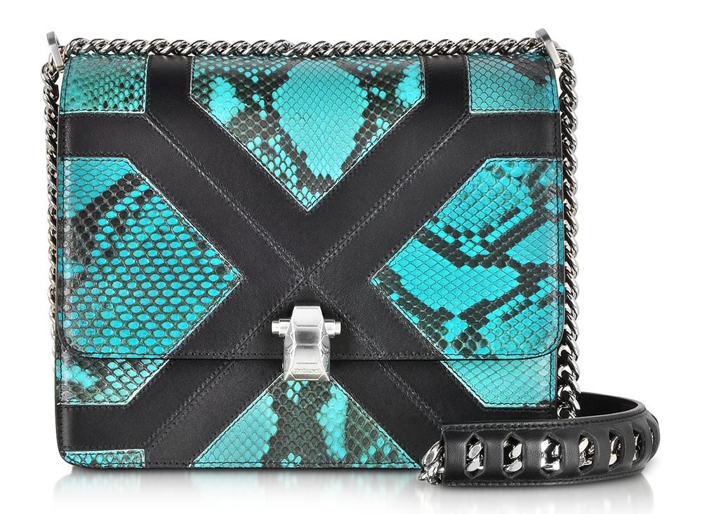Roberto Cavalli Hera Python Shoulder Bag