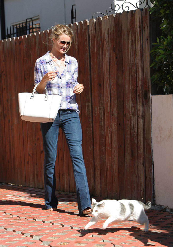 Rosie Huntington-Whiteley Victoria Beckham Quincy Tote-3