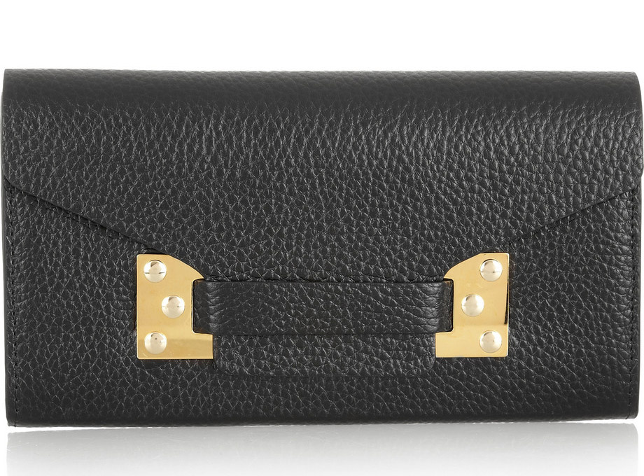 Sophie Hulme Textured Leather Wallet