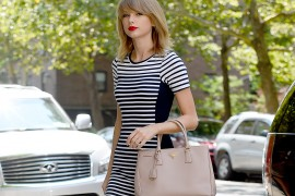Taylor Swift Continues Her Walking Tour of New York with a Prada Bag