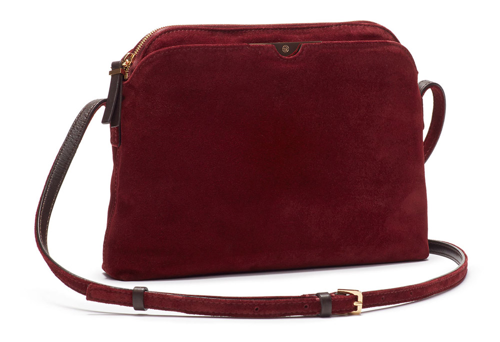 The Row Multi Pouch Suede Crossbody