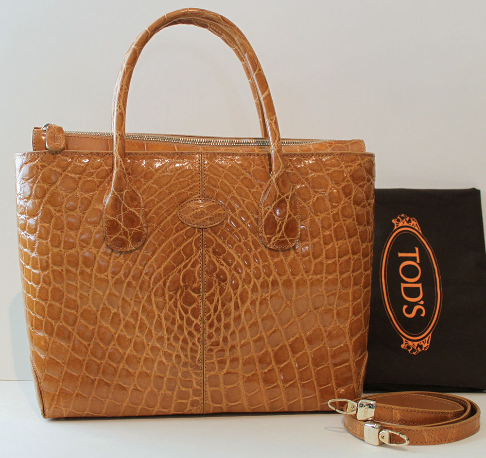 Tod's Alligator Tote Bag