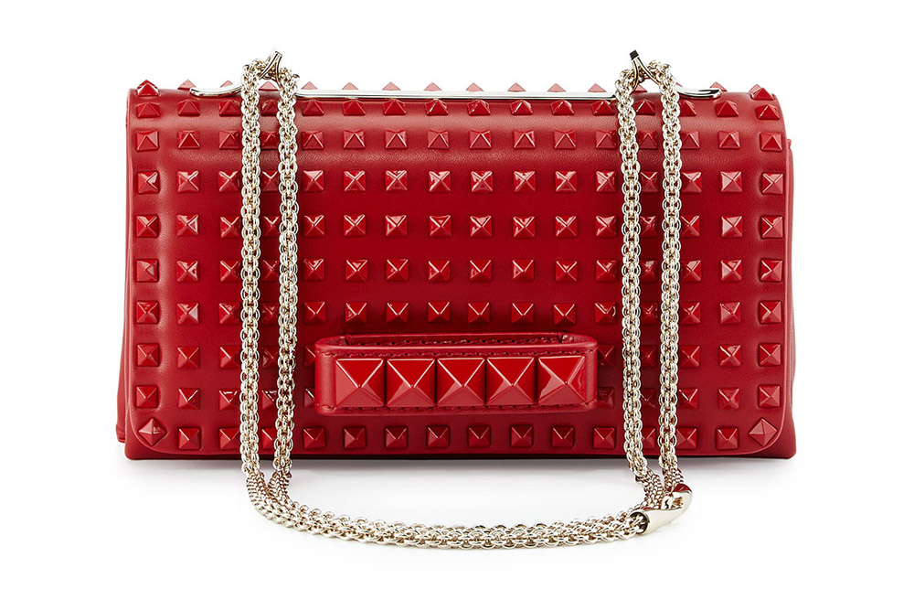 Valentino VaVaVoom Rockstud Rouge Absolute Bag