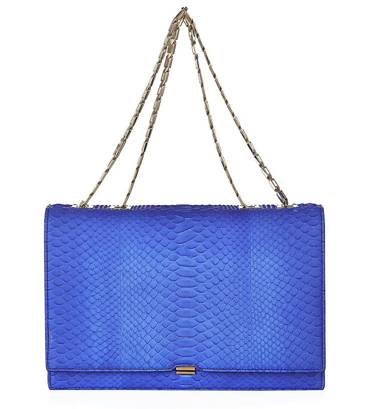Victoria Beckham Hexagonal Chain Python Shoulder Bag