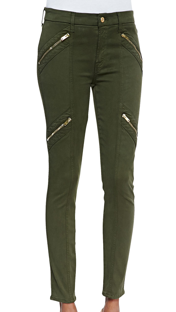 7 For All Mankind Panel Zip Skinny Moto Pants