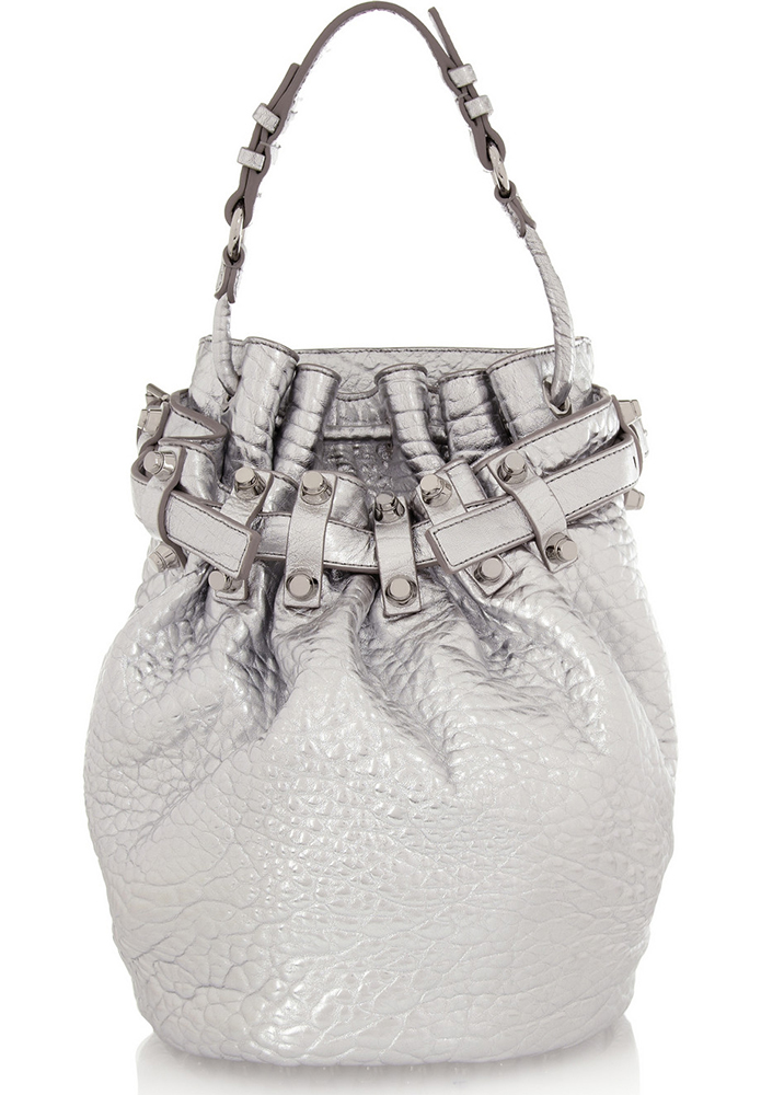 Alexander Wang Diego Metallic Bucket Bag