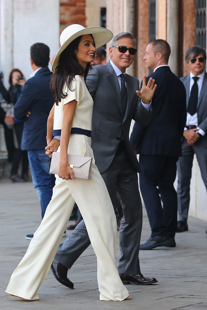 Amal Alamuddin Stella McCartney Beckett Envelope Clutch-1