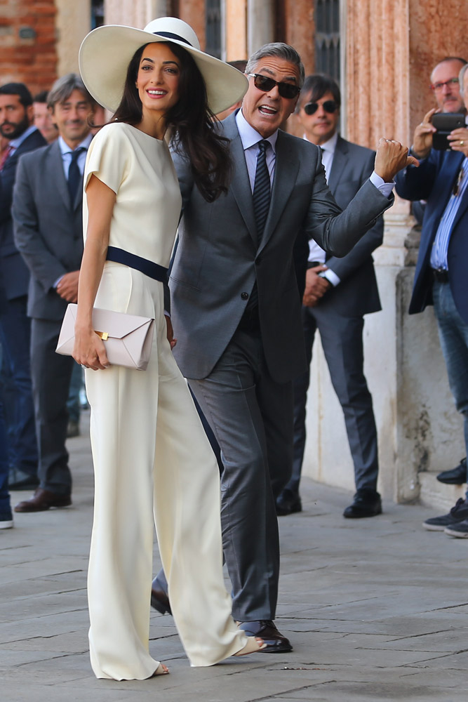 Amal Alamuddin Carries Stella Mccartney During Her Wedding