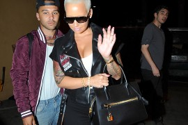 Amber Rose Tried Her Best to Avoid the Paparazzi with a Tom Ford Tote