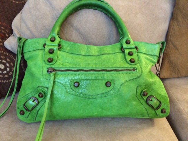 Balenciaga Apple Green First Bag
